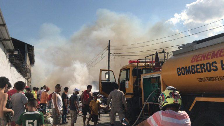 SPS: once familias resultan afectadas por incendio en barrio Sunseri