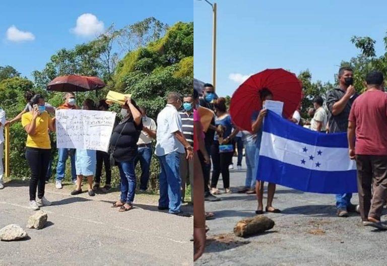 Yoro: pobladores protestan en El Progreso por cobros que superan los L 20,000