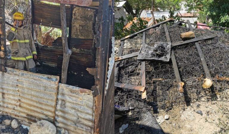 SPS: mientras mujer daba a luz, su casa se incendiaba en aldea El Carmen