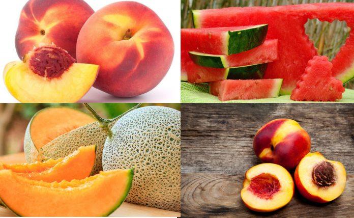 Frutas hidratación verano