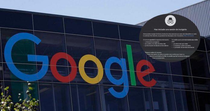 Google modo incógnito Chrome