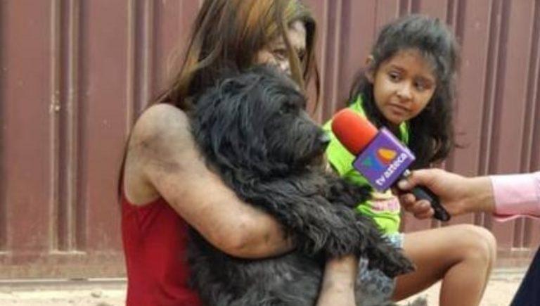 Yadira, la capitalina que se metió entre las llamas para salvar a su perrita embarazada
