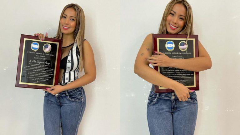 Elsa Oseguera recibe reconocimiento de la comunidad hondureña en EEUU