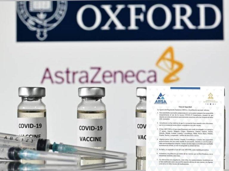 Pese a reportes de trombosis, Honduras no tomará medidas cautelares con vacuna AstraZeneca
