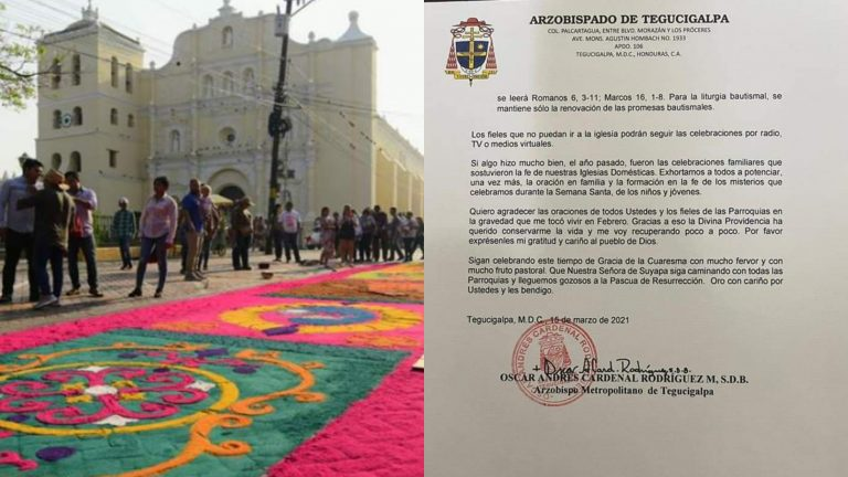 Arquidiócesis de Tegucigalpa emite lineamientos para Semana Santa 2021