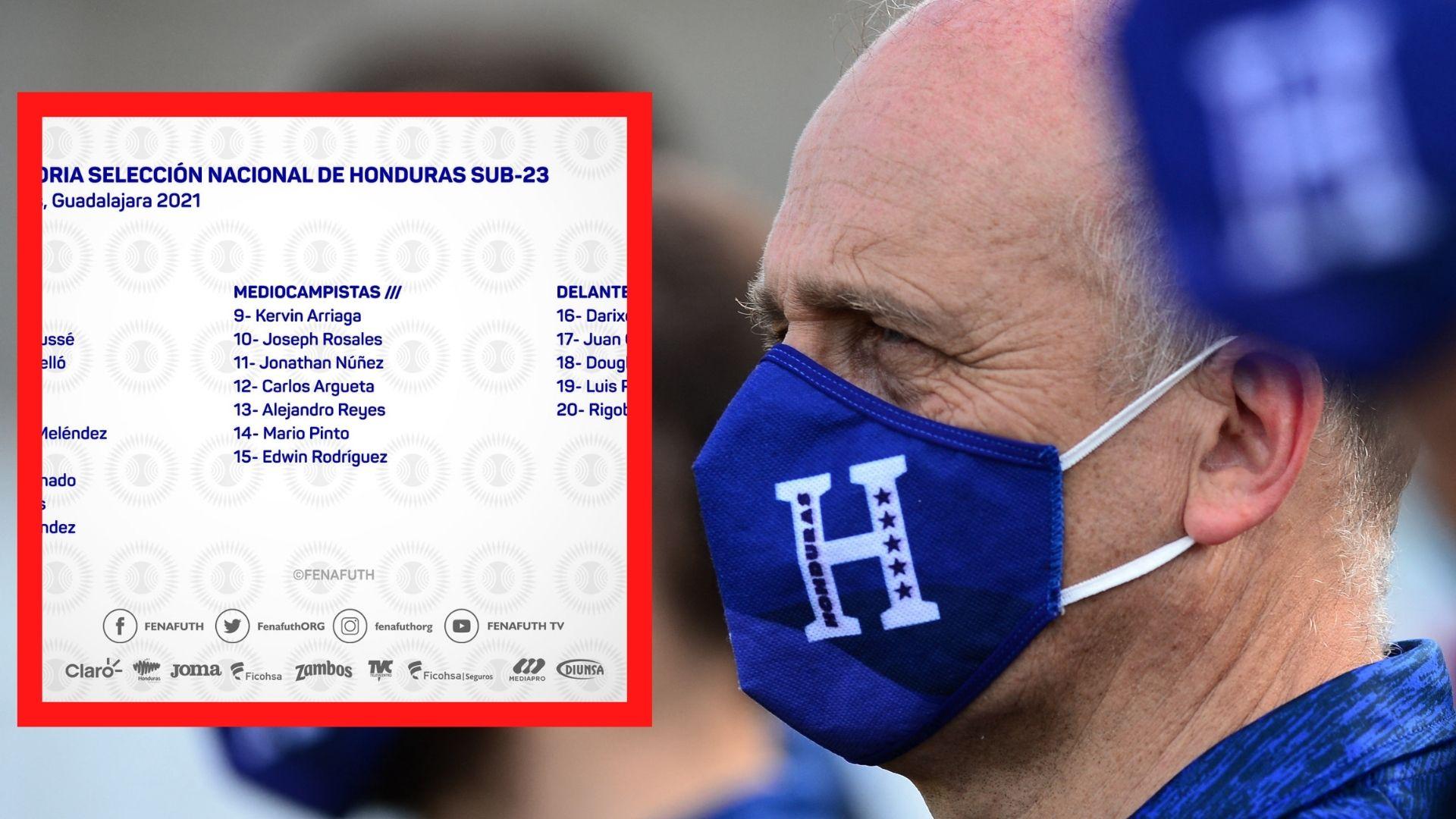 OFICIAL: FENAFUTH da a conocer el listado oficial para el Preolímpico de Concacaf 2021