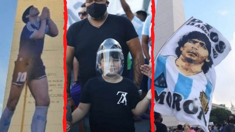 GALERÍA: Argentina protesta justicia para Maradona en marcha