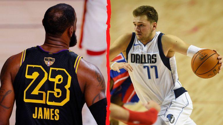 NBA revela que las camisas de LeBron James y Luka Doncic son las más vendidas