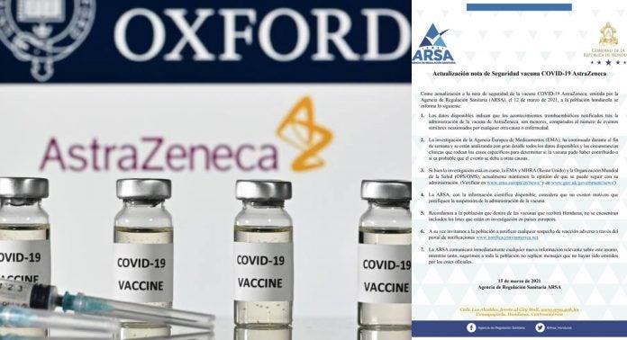 ARSA vacunación dosis AstraZeneca