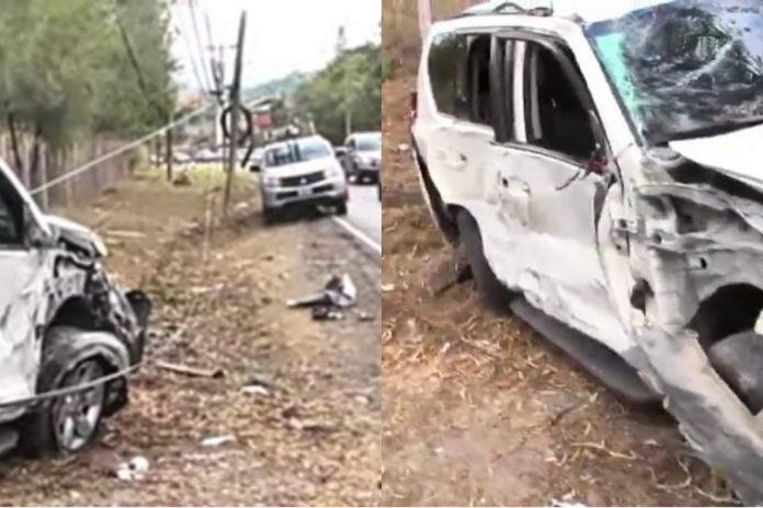 Accidente vehículo precandidato