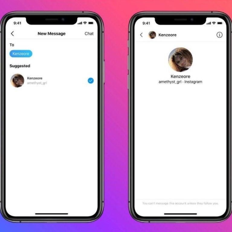 Instagram mensajes menores y adultos