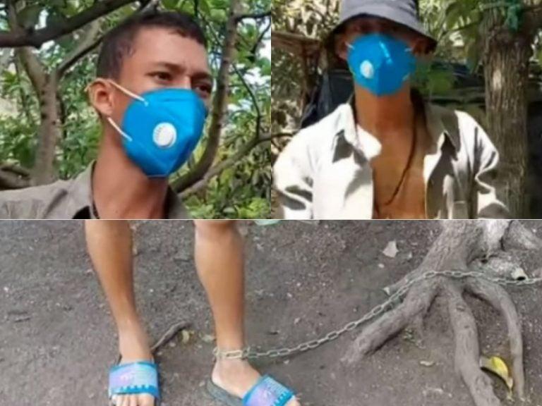 Olancho: ¡Perdió la cordura! Atado de pies manos vive hondureño tras caer preso