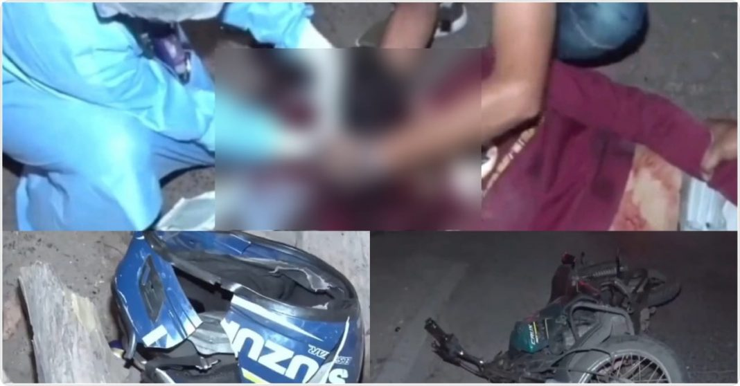 accidente moto cerveza Tegucigalpa