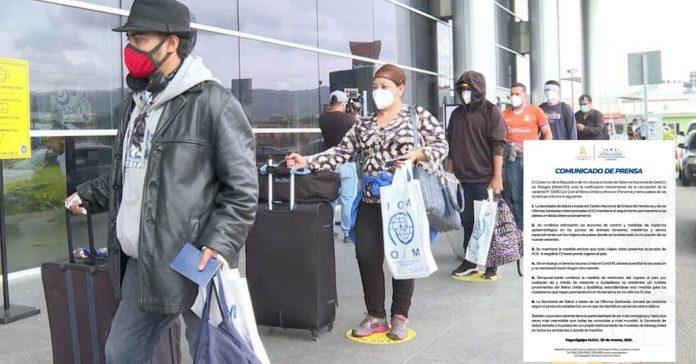 Honduras viajeros Sudamérica covid