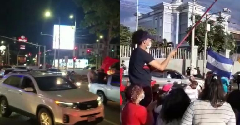 VIDEOS| Hondureños salen a las calles en caravanas vehiculares tras sentencia a «Tony»