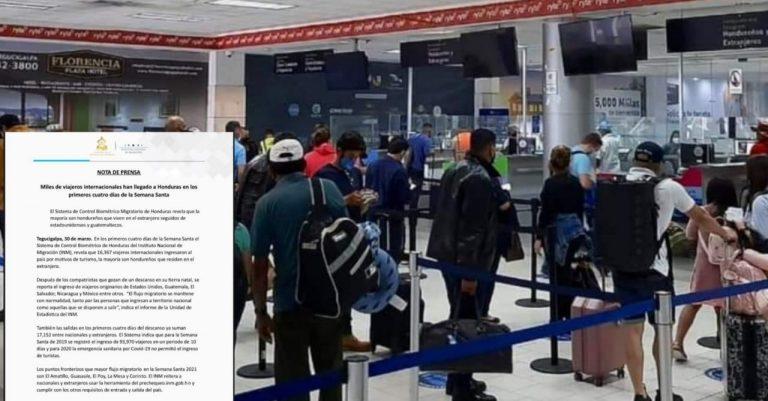 INM: Más de 20 mil extranjeros han llegado a Honduras para la Semana Santa