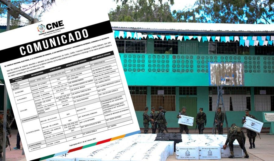 CNE reubica centros de votación