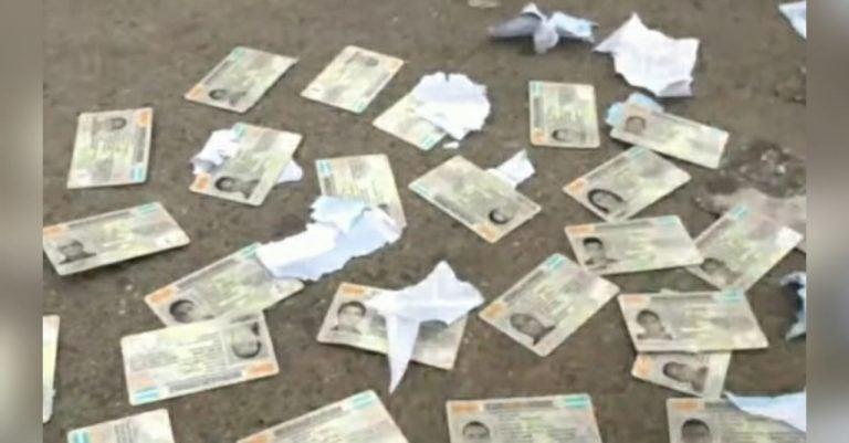 Hallan varias identidades «tiradas» en la calle; investigará, dice RNP