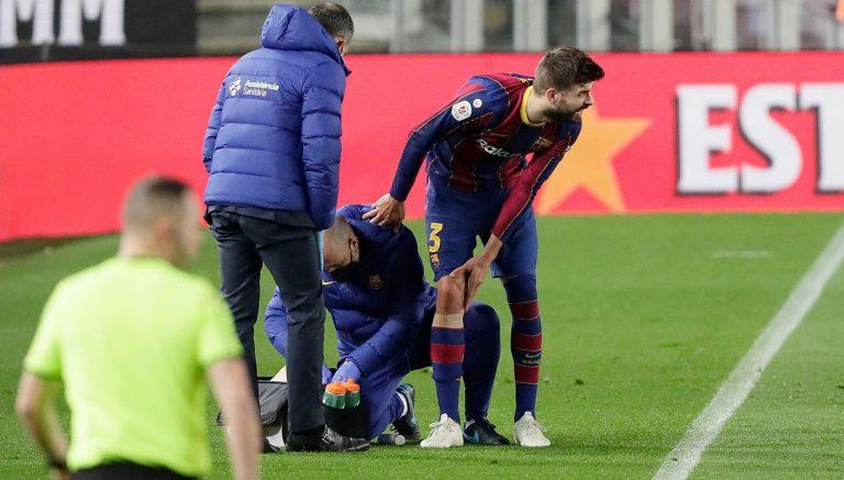 Piqué se vuelve a lesionar a una semana del PSG – Barcelona