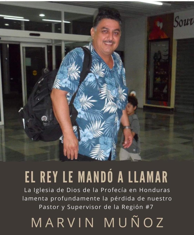 fallece pastor Marvin Muñoz de Copán