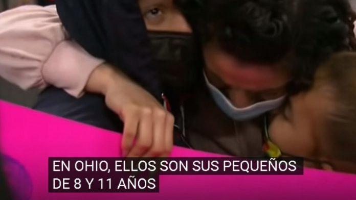 Madre se reencuentra dos niños en EEUU