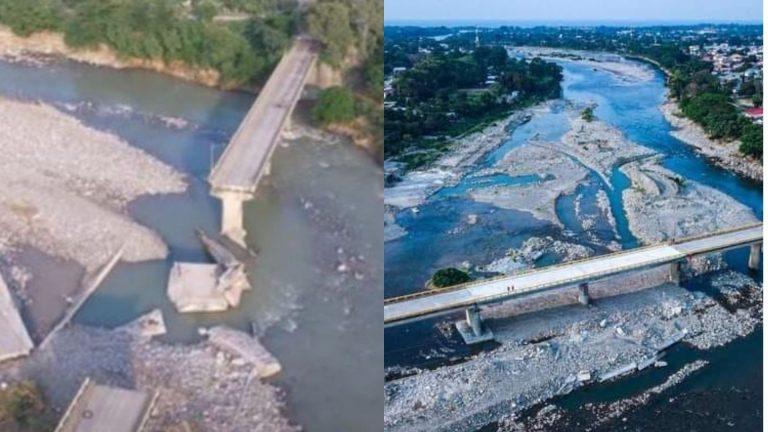 Cinco meses después de Eta, habilitan puente Saopín de La Ceiba