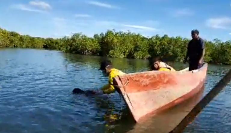 Flotando en embarcadero de Valle, hallan a hombre que se habría ahogado