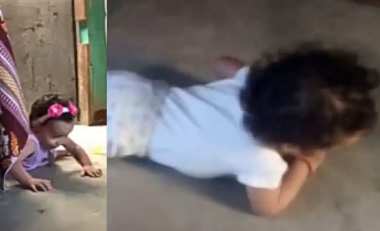 Niña de 15 meses sufre malformación y no puede gatear; claman por ayuda