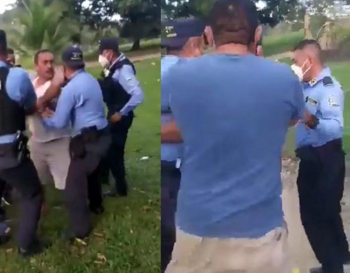 Enfrentamiento entre policías y dueño de billar