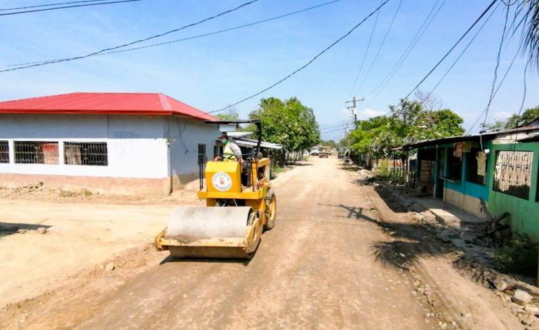 Municipalidad de SPS avanza en pavimentación del distrito Rivera Hernández