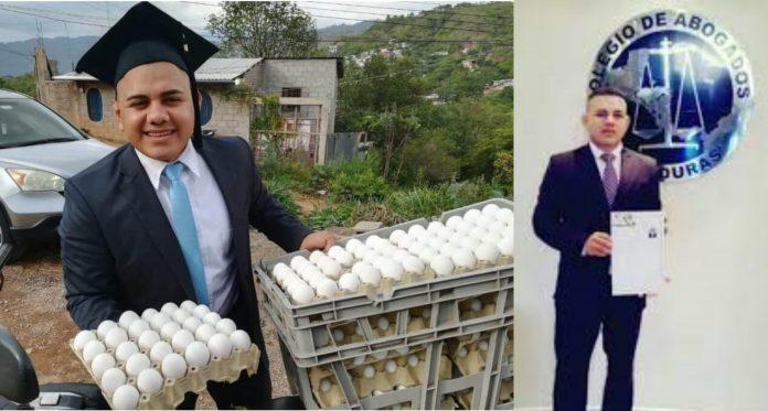 Joven se hizo abogado vendiendo huevos