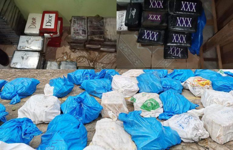 GALERÍA   Incautan 911 kilos de supuesta cocaína «de marca» en casa de Colón