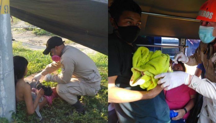 hondureñas dan a luz carretera y bus