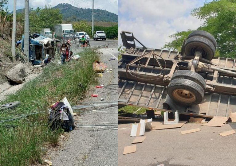 Triple choque en Copán deja 12 heridos; autobús, rastra y turismo involucrados