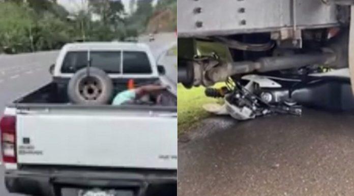 motociclista accidente camión Yojoa
