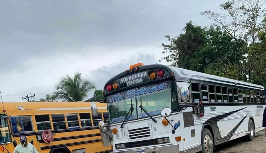 transporte interurbano paralizado Colón