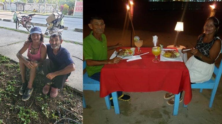 Hondureño regala cambio de imagen y cena romántica a esposos que recogen botellas