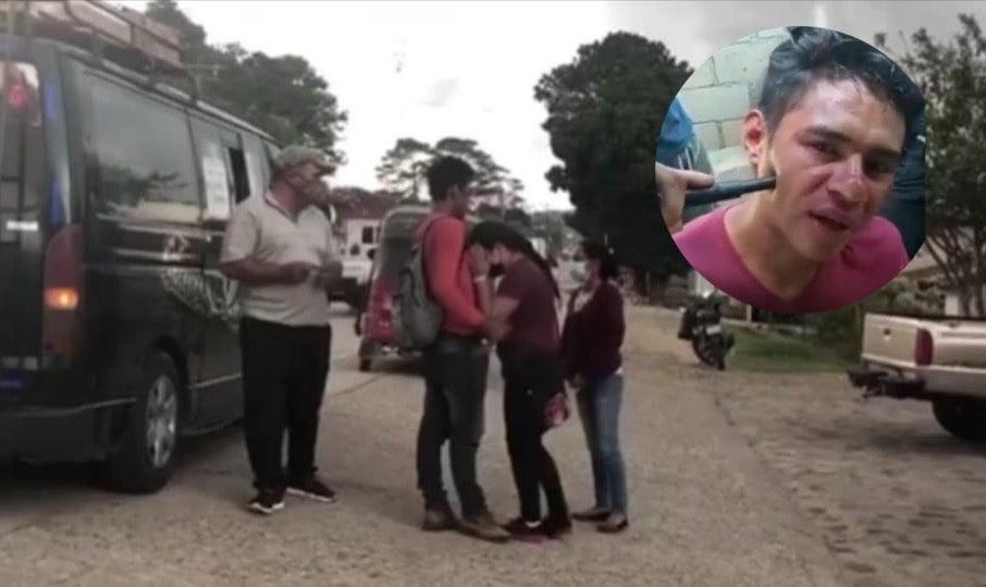 familia recibió a joven que estuvo secuestrado