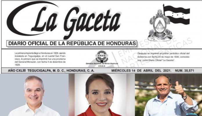 Publican en la Gaceta resultados elecciones