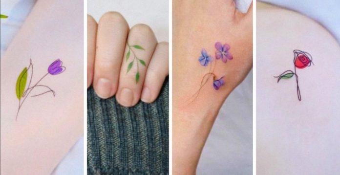 ideas tatuajes florales