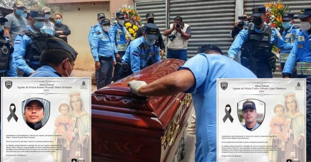 policías héroes falsa denuncia
