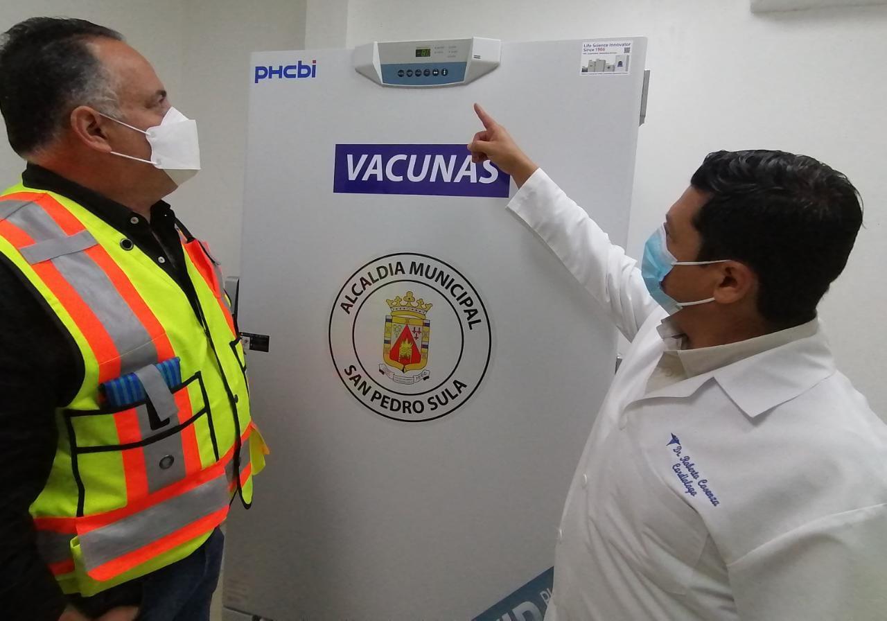 municipalidad SPS adquiere dos freezer para vacunas