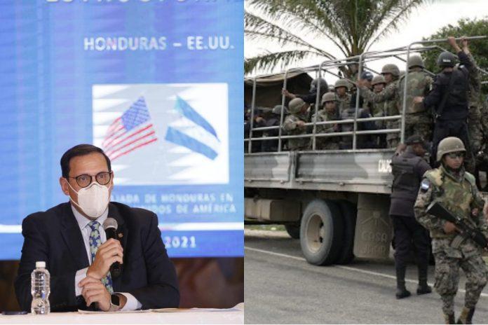 Canciller tropas a frontera