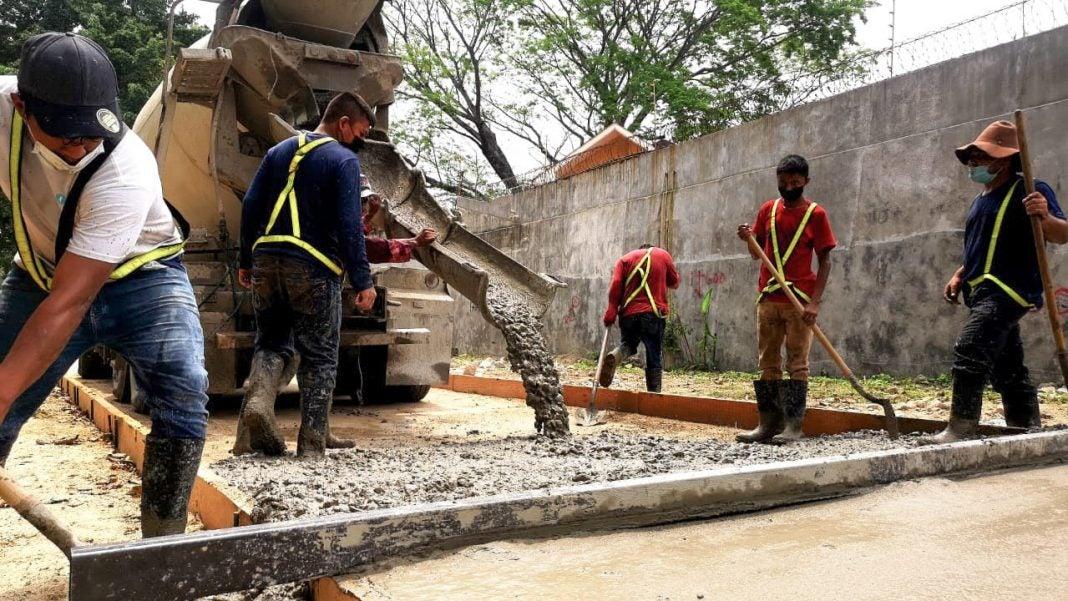 municipalidad avanza fundición bordo río Santa Ana