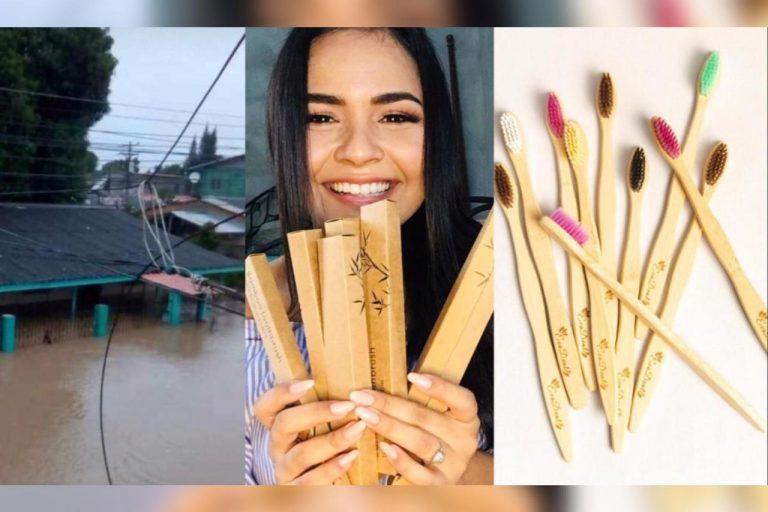 Hondureña emprende con cepillo ecológico tras perder «todo» en inundaciones