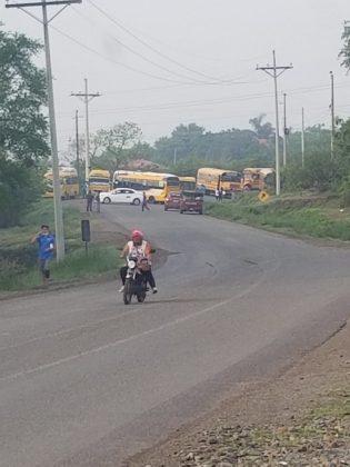 Paro de transporte Honduras