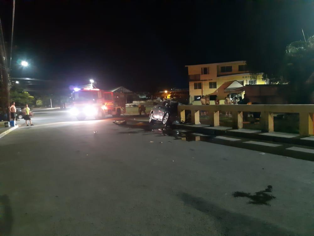Accidente en La Ceiba.