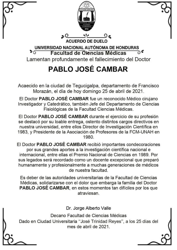 Médico Pablo Cámbar COVID-19