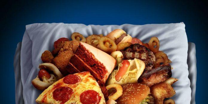 Alimentos por la noche