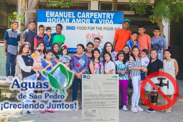 Denuncian: por deuda, Aguas de San Pedro cortó el servicio a fundación para niños